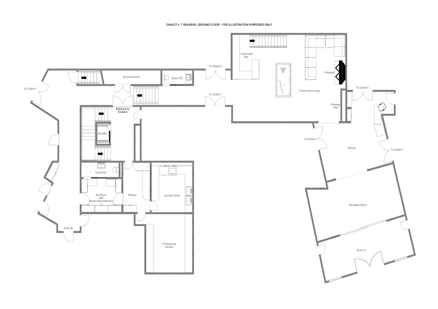 Chalet Mckinley Luxury Swiss In Zermatt Haute Montagne Bedroom Wiring Diagram This Includes The Wall Ski Room With Heated Boot Warmers